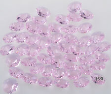 100 Pink Crystal Chandelier Lamp Part Prisms Octagons Beads Wedding Decor 14mm