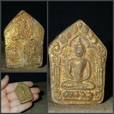Thai Buddha Amulet Khun Paen LP Tim Pendant AYUTTHAYA Antique gorgeous Talisman