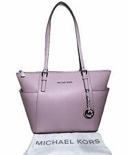 AUTHENTIC MICHAEL KORS Jet Set Pale Lilac Leather Tote Women's Handbag