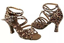 Leopard Print Very Fine Competitive Ballroom Dance Shoes Size 9
