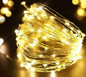 10 LED Wine Bottle Fairy String Lights Battery Cork Shaped Xmas Wedding Party 1M