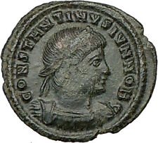 CONSTANTINE II Jr. Constantine the Great son Ancient Roman Coin Legions i18390