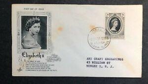 British Solomon Islands 1953 Coronation FDC First Day cover