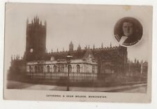 Cathedral & Dean Weldon Manchester 1917 RP Postcard Lancashire 723b