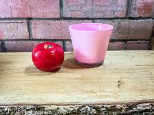Pink Blancmange Colour Glass Pot Vase