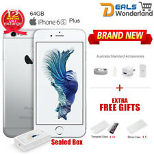 New Sealed Box Apple iPhone 6S Plus 64GB Silver Unlocked Smartphone