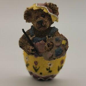 Boyds Bears Bearwear Easter Egg Painter Eggbert Artist Bear Pin #81502