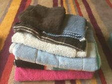 7 COTTON BATH, HAND TOWELS AND FLANNELS