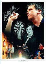 Keith DELLER Signed Autograph Darts 16x12 Montage Photo AFTAL COA
