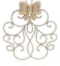 Fine Estate 18k Rose White Gold Diamond Butterfly Ornate Pendant Necklace