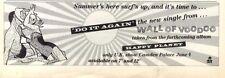 "23/5/87pg21 Single Advert 3x10"" Wall Of Voodoo : Do It Again"