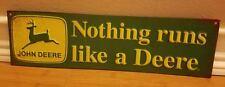 JOHN DEERE TRACTOR METAL DISPLAY* green yellow farming equipment deer mower lawn