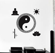 Vinyl Wall Decal Yin Yang Buddha Zen Meditation Room Stickers (ig4480)