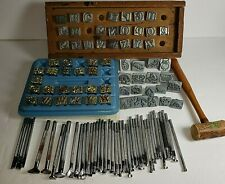 Vintage Craftools co Leather Craft Stamps, Letters, Tools Pre-Owned