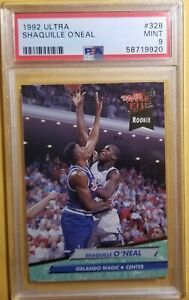 SHAQUILLE  O'NEAL 1992-93 FLEER ULTRA ROOKIE RC PSA 9 MINT #328