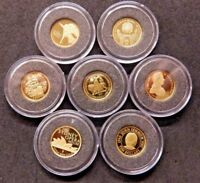 Gold Miniature Collection 1/25 oz .999 Fine Proof Coins CoA  Select from Menu