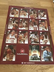 Vintage 2007 IU Indiana University Basketball Team 16 Card Uncut Sheet DJ White