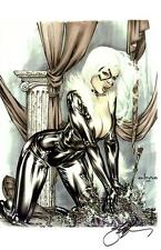SEXY BLACK CAT SIGNATURE EDITION ART PRINT By EBAS