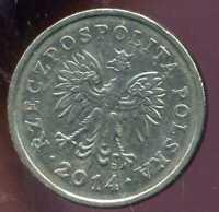 POLOGNE  1 zloty  2014