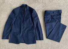 "Polo Ralph Lauren traje de lana azul marino 38R/32"" Adaptado Slim Fit RRP £ 550 🇮 🇹"