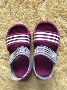 Girls Adidas Sandals - Size UK 6.5 Infant