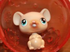 LPS Brown Hamster Mouse Ball blue dot eyes Replacement toy pre-owned figure CUTE