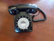 Black 1970's Retro Rotary Dial Desktop telephone