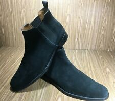 Aldo Men's Chelsea Boots Swede Leather Black Size 9.5M