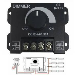 30A DC 12V-24V LED Switch Dimmer Controller For Strip LED Single Color CS