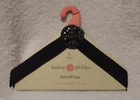 "Lindsay Phillips ""CLARKE"" SwitchFlops Interchangeable Straps Size Large"