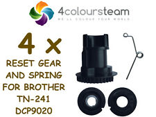 4x RESET GEAR AND SPRING FOR BROTHER TN-241 241 DCP 9020 (2,2C-BK) (1,4C-C,M,Y)
