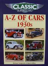 BOEK/LIVRE/BOOK : a to z cars of the 1930s (oldtimer jaren 30,voiture années