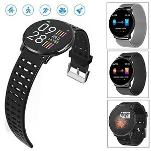Round Screen Smart Watch Heart Rate Monitor Remote Camera for Samsung iPhone LG