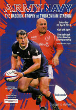 ROYAL NAVY v BRITISH ARMY 27 April 2013 RUGBY PROGRAMME at TWICKENHAM
