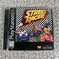 Street Racer (Sony PlayStation 1, 1996) PS1 Black Label Complete w/Manual CIB