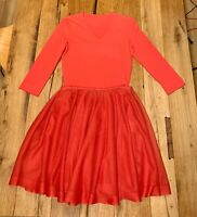 ALAIA Viscose Body Size 42 (US 6) + Silk Skirt Red Size 40 (US 4) NEW