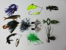 12 pack vintage fishing lure jig soft bait spinner crayfish crank-bait assorted