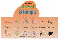 AUSTRALIAN ANIMAL STAMPS Animal & Footprint STAMPERS - Set of 8 Aussie ANIMALS