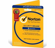Norton Security Deluxe + Norton Utilities 5 Devices / 1 Year  PC / Mac / Android