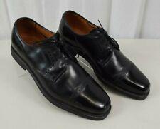 Allen Edmonds Perry Mens Black Leather Cap Toe Shoes 9.5 C Narrow Dress