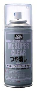"""Gunze Mr Hobby Super Clear FLAT """"MATTE"""" Spray Can  5.75 oz. (170ml) B514"""