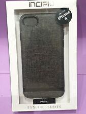 Incipio Apple iPhone 8 / 7 / SE 2020 Esquire Case Fabric Luxury Tough Cover Grey