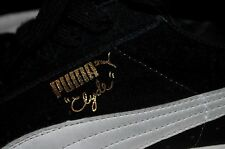 PUMA Clyde 12 black real suede leather gold foil signature limited edition shoe