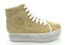 Jc Play by Jeffrey Campbell scarpe sneakers zeppa HOMG SUEDE WASH SAND n° 40