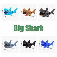 Lego 6-Color Big Animal Shark Minifigures Building Blocks Shark Toys Mini Figure
