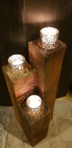 Home&garden Candle Holders  3 pods looks great in flower beds or stand alone.