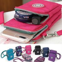 Unisex Cross-body Mobile Phone Shoulder Bag Pouch Case Belt Handbag Purse Wallet