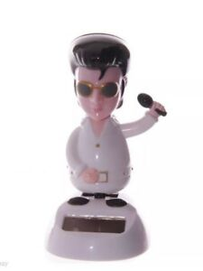 NOVELTY SOLAR POWERED DANCING ELVIS, DASHBOARD TOY, HOME OR CAR Gift