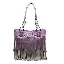 Western Totes Fringe Handbag Concealed Carry Purse Women Shoulder Bag Wallet Set