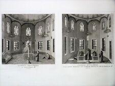 BELLE GRAVURE ORIGINALE Chapelle Mohammed II Tableau Général EMPIRE OTTOMAN 1787